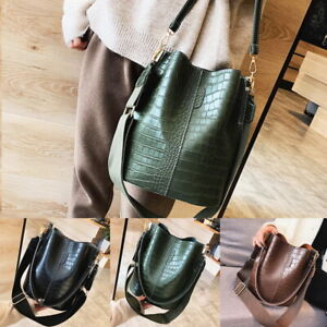 c91ba611548ab Women Durable PU Leather Tote Large Capacity Handbag Casual Shoulder ...