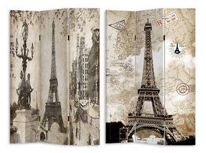 NEW Large 3 Panels Paris Eiffel Tower Room Divider Screen MEGA