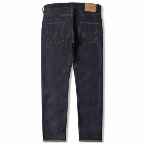 Unwashed Edwin ED-55 Regular Tapered Jeans 63 Rainbow Selvage Denim