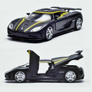 Koenigsegg-Agera-R-1-32-Metall-Die-Cast-Modellauto-Schwarz-Spielzeug-Sammlung