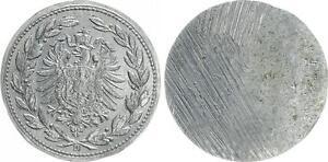 PROBEPRAGUNG-Kaiserreich-50-Pfennig-PROBE-Bleiabschlag-der-Bildseite