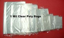100 Small To Large Clear 1 Mil Poly Bags 13 Sizes To Choose From