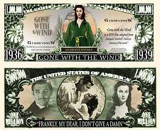AUTANT EN EMPORTE LE VENT - BILLET MILLION DOLLAR US ! Clark Gable Vivien Leigh
