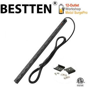 BESTTEN-12-Outlet-Heavy-Duty-Surge-Protector-Metal-Power-Strip-w-15FT-Cord-ETL