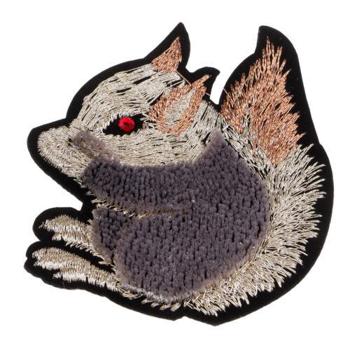 Eichhörnchen Stickerei Eisen Auf Applikationsflecken Pailletten Für Kleidungs