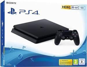 SONY PLAYSTATION 4 PS4 SLIM 500GB CONSOLE BLACK + 1 DualShock WI-FI