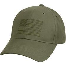 OD US USA Flag Low Profile Olive Drab Baseball Cap Hat Ballcap Rothco 99880 5cfa4ef289e