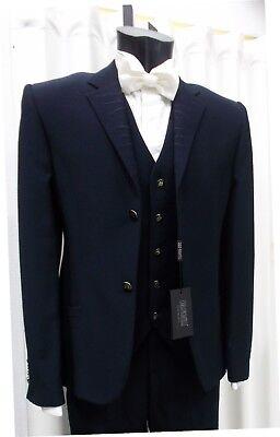 100% Vero Abito Sposo T. 48 Firmato Carlo Pignatelli Suit Groom Wedding Italian Designer Forte Imballaggio
