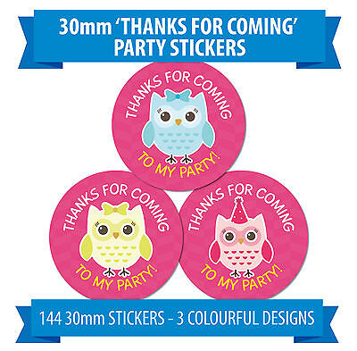 Thanks for coming to my party Matey 60mm diameter party stickers 36 great for party bags