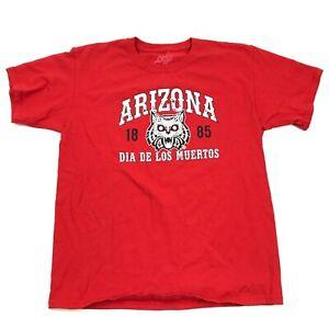 Blue84 University Of Arizona WILDCATS Shirt Youth L Large DIA DE LOS MUERTOS Tee