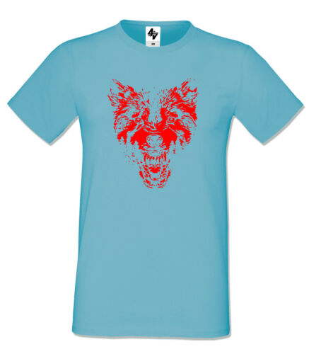 Mens Designer Wolf Fashion Short Sleeve halloween Crew Neck T-shirt