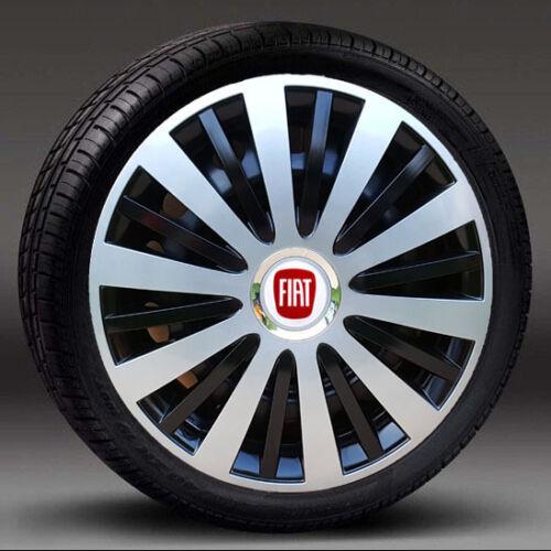 "Hub Caps Covers to fit Fiat Bravo,Croma Silver//Black 16/"" wheel trims"