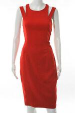 Jay Godfrey Red Double or Nothing Sheath Dress Size 6 New $322 10190182