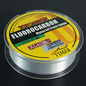 Fluorocarbon Fishing Line 50M//100M//150M  4.4LB-35.2LB Color Clear Monofilament