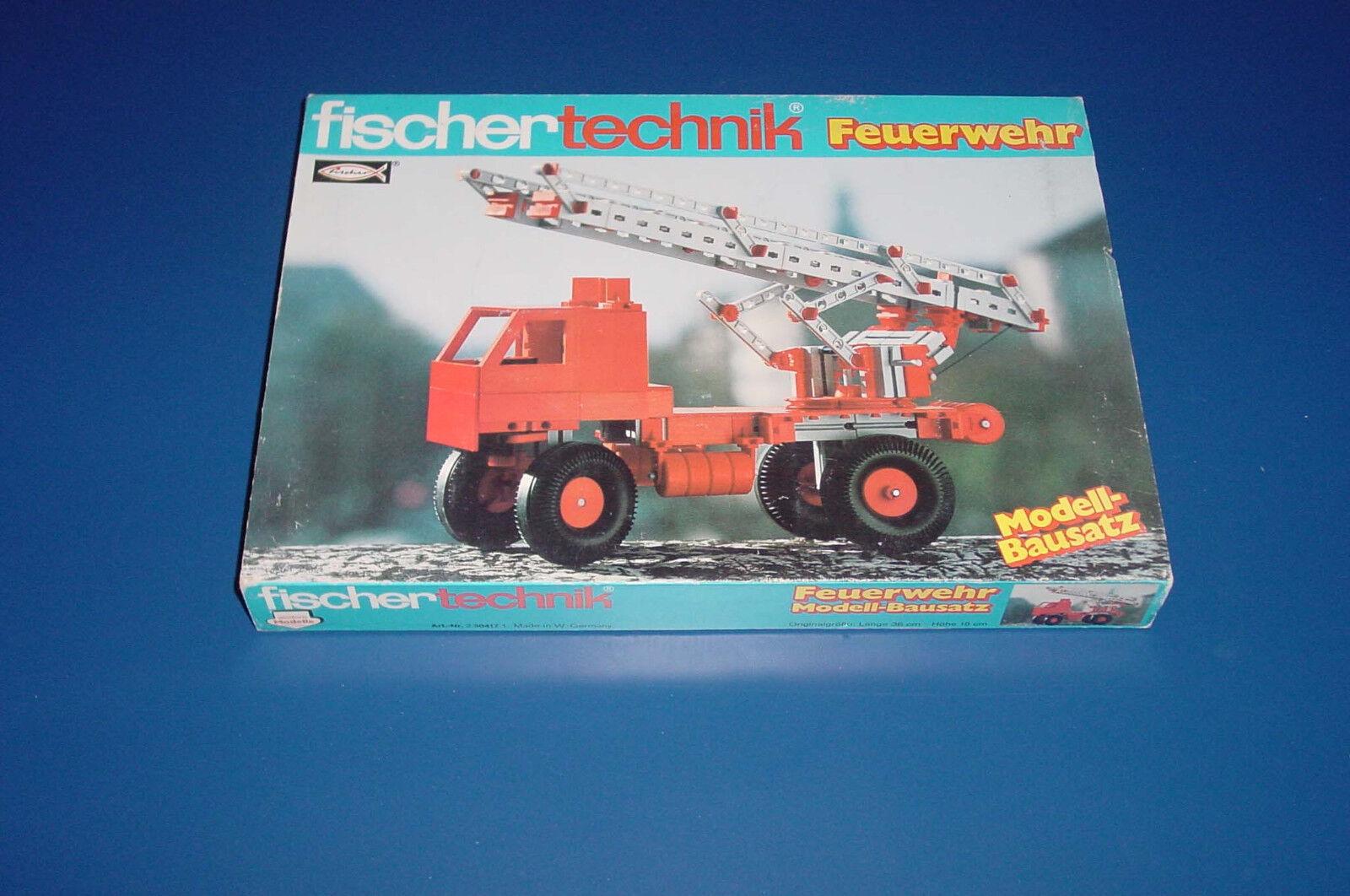 Fischertechnik - Modell Feuerwehr -- Unbespielt