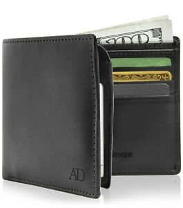 Vegan-Faux-Leather-Bifold-Wallets-For-Men-With-Flip-Up-ID-Window-RFID-Blocking
