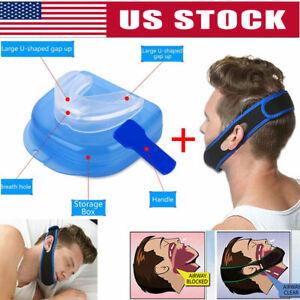 Stop-Snoring-MouthPiece-Sleep-Apnea-Night-Guard-TMJ-Anti-Snore-Chin-Strap-Belt