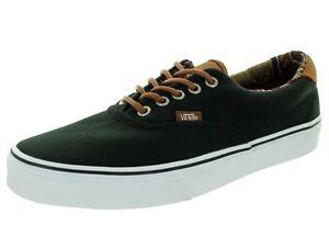 a721e7d149 Vans Unisex Era 59 (C L) Black Geo Weave Skate Shoes Men SIZE 9