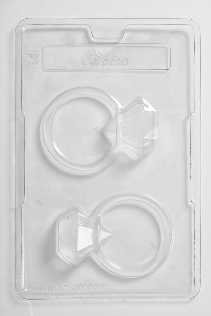 2 Cavity Full Diamond Ring - Chocolate/Sweet/Soap/Plaster/Bath Bomb Mould #155