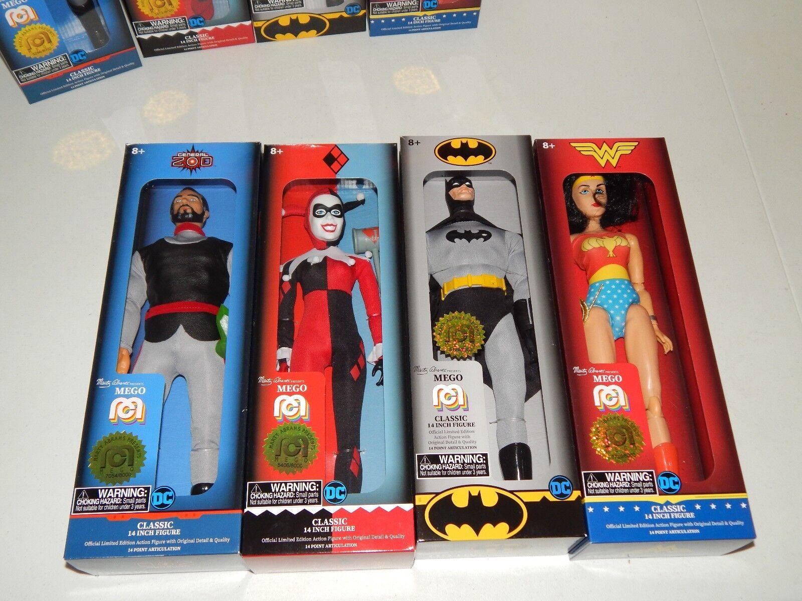 Batman - Wonder Woman - Harley Quinn & General Zod Mego 14