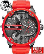 3e7f3cf50501 Reloj Cronógrafo DIESEL DZ7370 57MM Mr. Daddy Para Hombres Rojo tiempo  múltiples