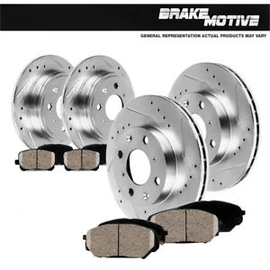 Front-Rear-Drill-Slot-Brake-Rotors-amp-Ceramic-Pads-For-CL-98-02-Honda-Accord
