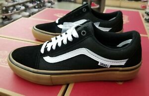 Details about VANS OLD SKOOL PRO SKATE MEN'S BLACK WHITE MEDIUM GUM VN000ZD4BW9