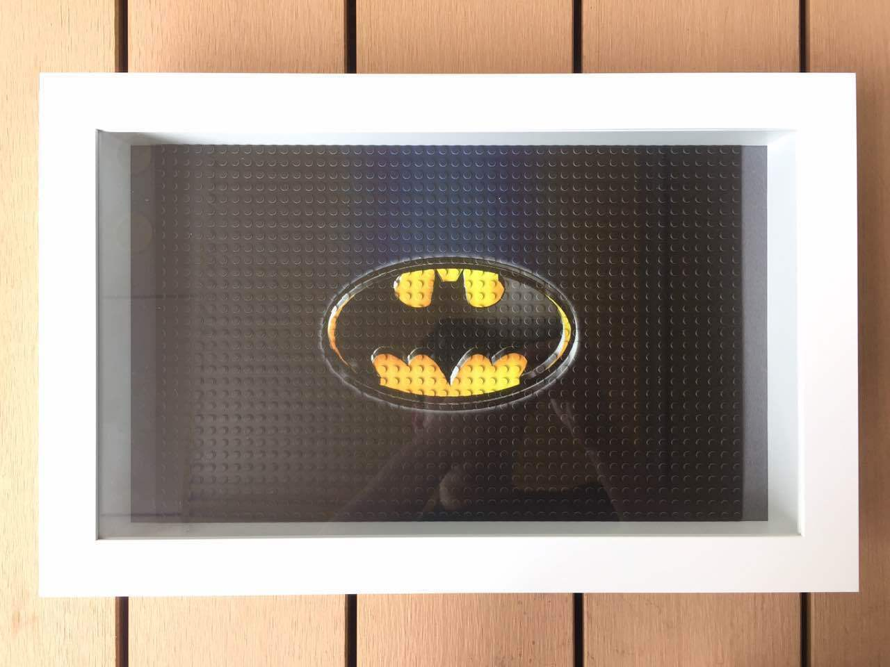 Lego 71017 Batman minifigues Marco vitrina Placa Placa 30x47x8CM Negro Nuevo
