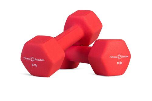 Fitness République Néoprène Haltères 8 lb environ 3.63 kg Set Néoprène Poids