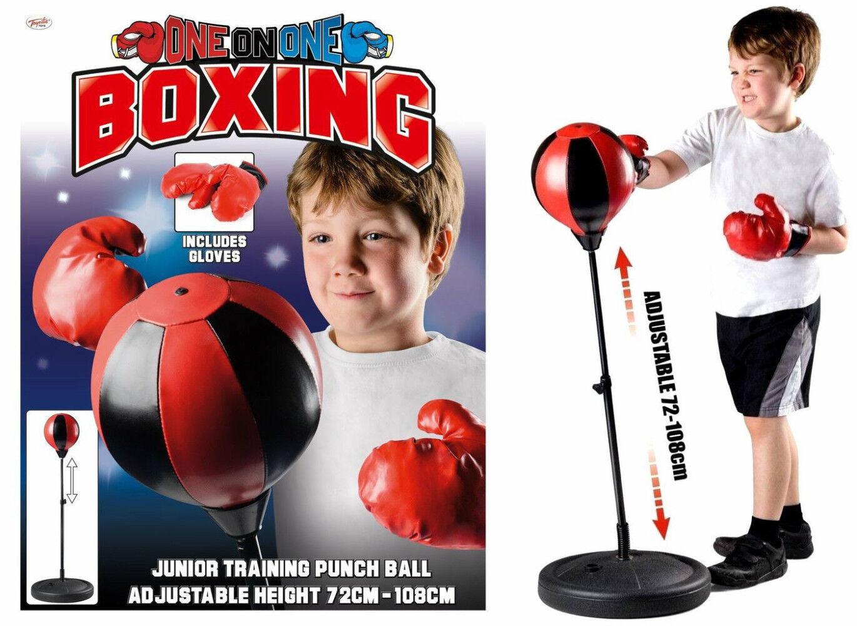 Junior Allenamento Boxe Guantoni Box con Stand Gratuito su Cavalletto Bambini
