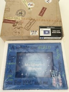 Disney-Parks-A-Whole-New-World-For-You-and-Me-Picture-Photo-Frame-4x6-New-In-Box