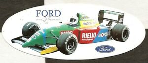 Details About 1990 Benetton Ford B190 Ford On Show F1 Gp Original Period Sticker Aufkleber