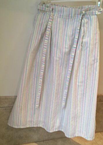 Preppy  LL Bean 1980s Vintage Rainbow Stripe wrap-