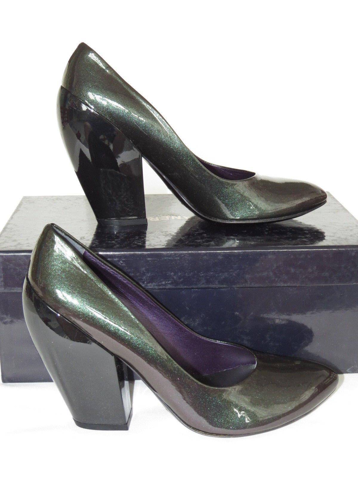 NEW ELISANERO Chameleon Mirror Patent Leder Heels Pumps Sz 38 7.5  475