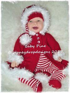 09c9096e2 BABY PINE   CHRISTMAS   PAPER KNITTING PATTERN   Reborn Baby ...