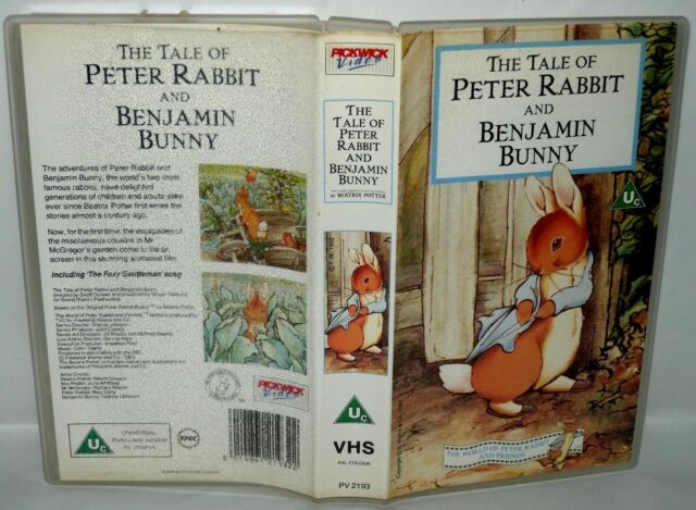 THE TALE OF PETER RABBIT & BENJAMIN Bunny ,Children's VHS Tape . Collectable VHS