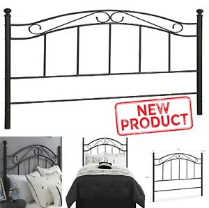 Full//Queen Size Bed Headboard Metal Black Bedroom Home Furniture Head Board NEW