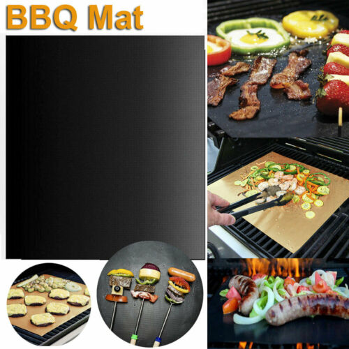 BBQ Grill Mat Non-Stick Cooking Baking Reusable Sheet Pad Barbecue Bake Meat