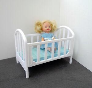 Enthousiaste Mattel (barbie Famille) Baby Cot-afficher Le Titre D'origine