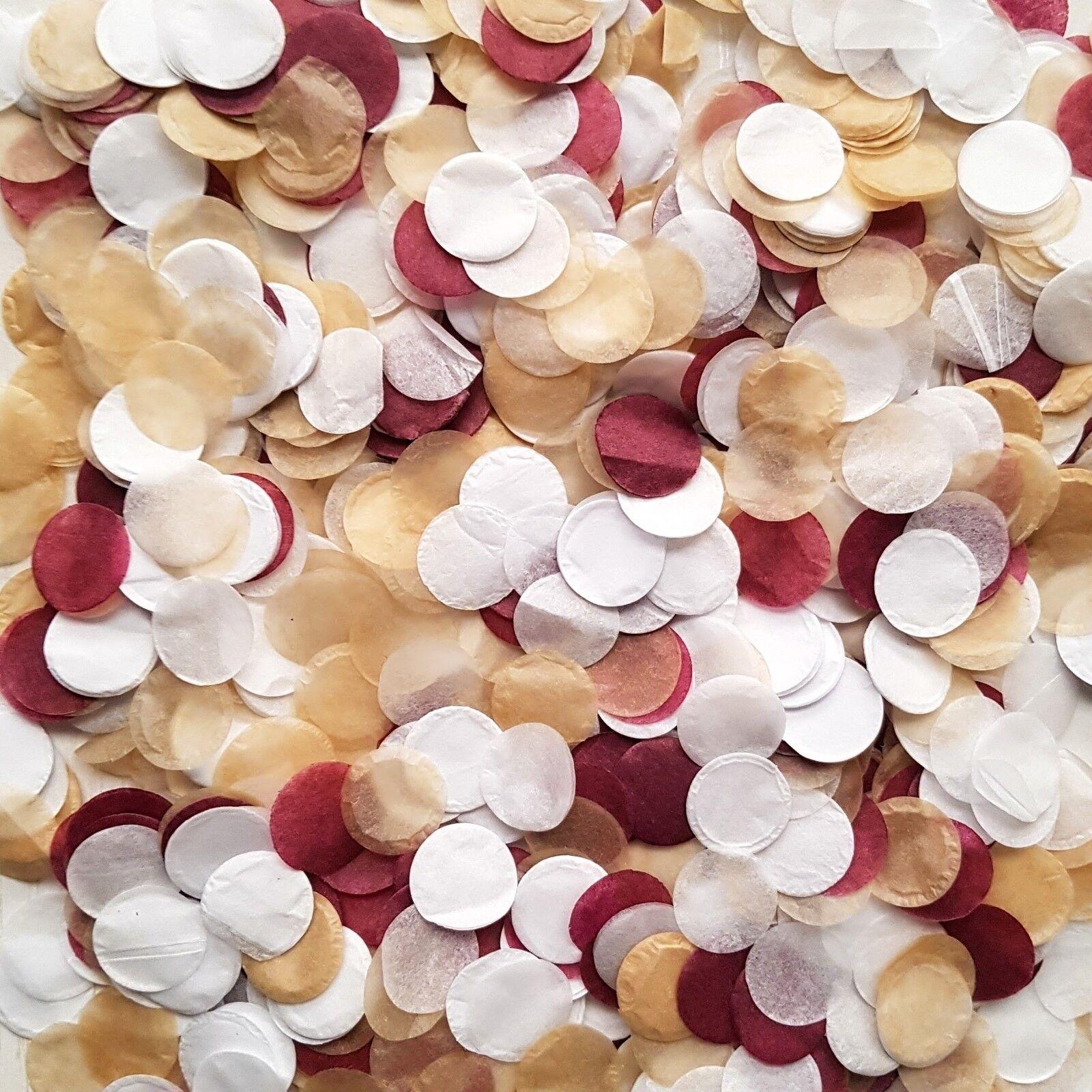 Bulk Biodegradable Wedding Confetti Champagne Gold, Burgundy Weiß Confetti
