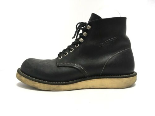 Auth Red Wing 8165 Black Leather Mens Boots US#6.5
