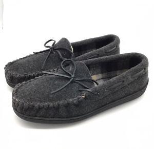 Minnetonka Men's Moccasin Dark Grey Loafers Size 9