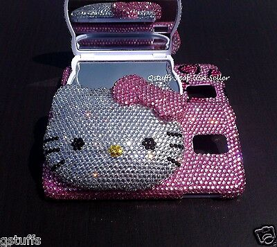 3D hello kitty compact Mirror Samsung galaxy Phone crystal case bling diamond
