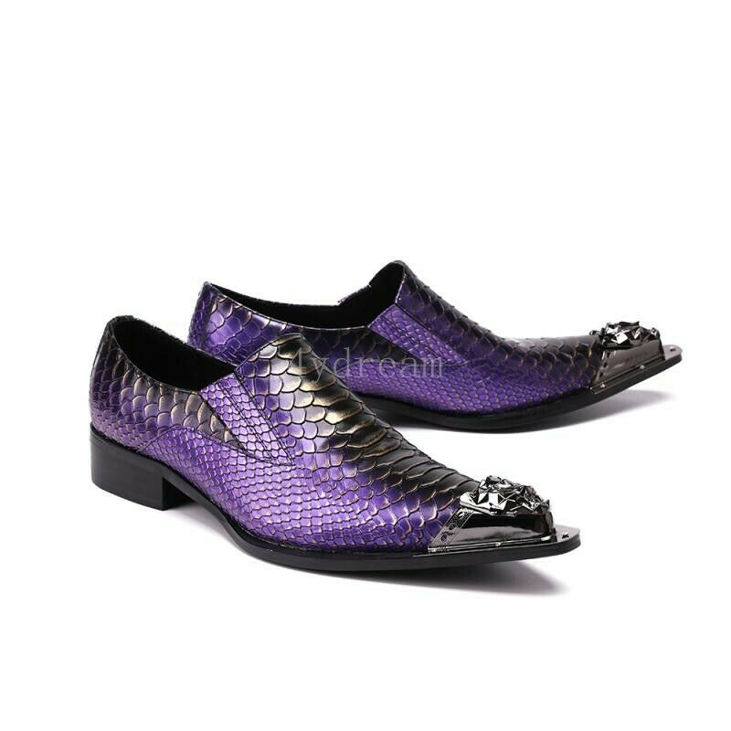 incentivi promozionali New Uomo Nightclub Punk Low Low Low Top scarpe Snake Pattern Formal Dress Leather scarpe  servizio premuroso