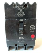 GE GENERAL ELECTRIC TEY380 NEW CIRCUIT BREAKER 3 POLE  80 AMP 277//480 VAC