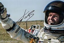 "Felix Baumgartner Red Bull Stratos Hand Signed Photo 12x8"" - RARE"
