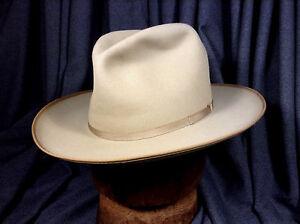 Vintage Dobbs Open Road Westward 20 Top of the Line Hat Beige 7  6d2334bcde0