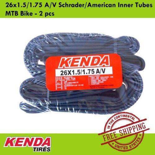 KENDA 26x1.5//1.75 A//V Schrader//American Inner Tubes MTB Bike 2 pcs