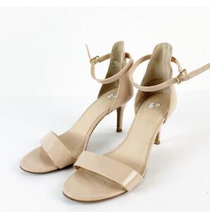 BP Nordstrom Luminate Patent NUDE Heels Size 8, GREAT