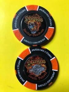 Sturgis Harley Davidson Full Color Poker Chip / South Dakota / Flaming Skull